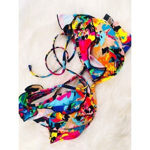 Kenneth Cole Reaction Floral Pushup Bikini Top✨